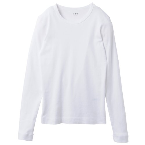 (スリードッツ)THREE DOTS 並行輸入 ALEX CREW NECK L/S TEE アレックス クルーネック長袖Tシャツ AA2C035 WHT WHITE S