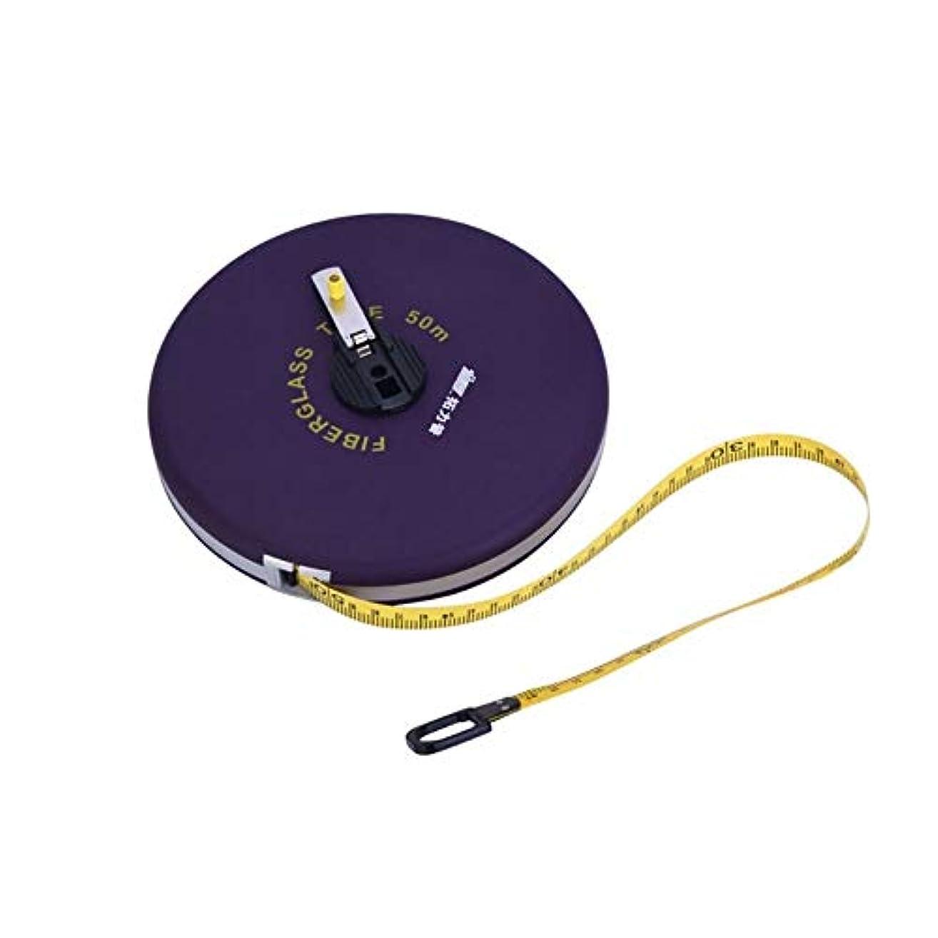 浸漬葉を拾うアグネスグレイYVCHEN 50メートルファイバールーラー、ディスクスキンメジャー、伸縮定規、定規ボックス巻き尺、道路建設エンジニアリング測定ツール、 (Size : 50 meters)