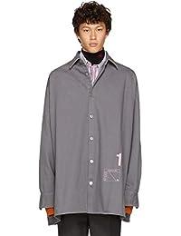 (ラフ シモンズ) Raf Simons メンズ トップス シャツ Grey Denim Easy Fit Shirt [並行輸入品]