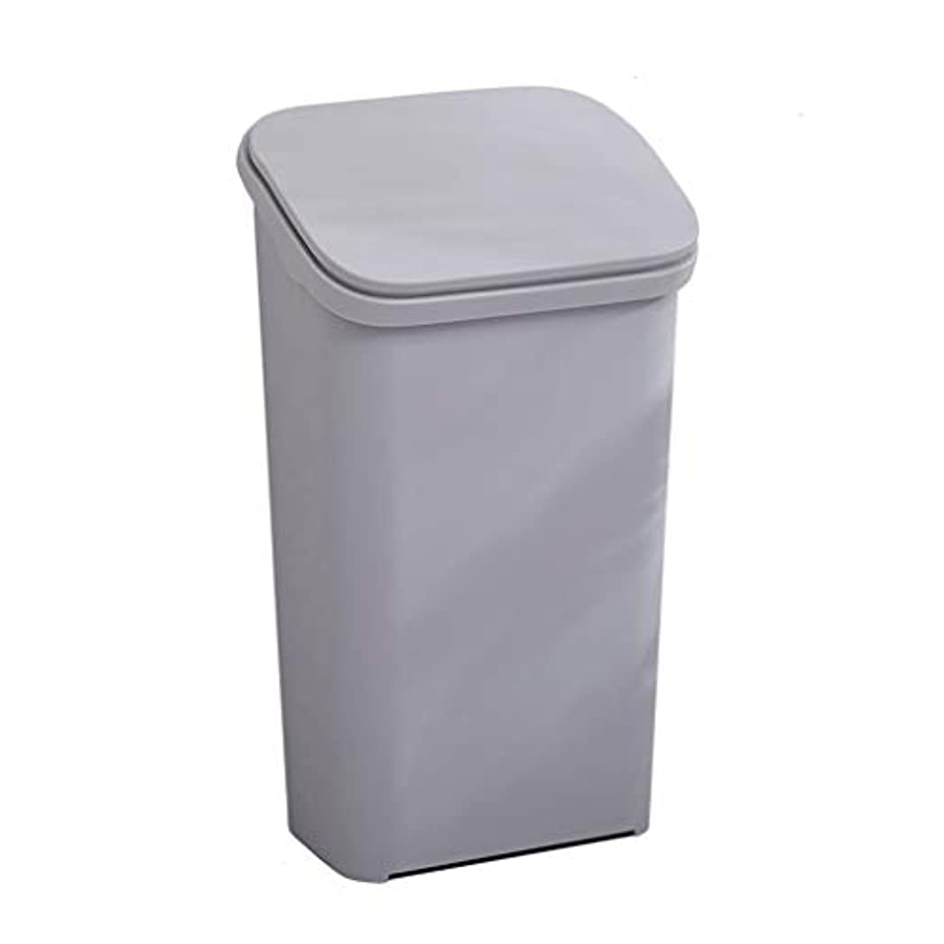 重なるシェフ角度IUYWLごみ箱 プラスチック弾丸タイプのゴミ箱は、蓋付きリサイクルボックス30×23.5×54×45×15.5×25cmの家庭用キッチンリビングルームのオフィスにすることができます。 IUYWLごみ箱 (Color :...