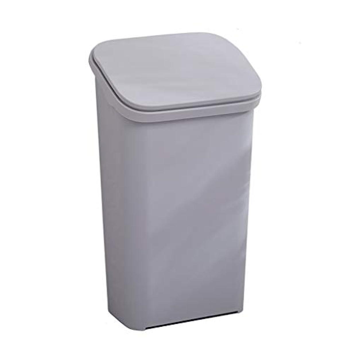 周波数に付ける退屈IUYWLごみ箱 プラスチック弾丸タイプのゴミ箱は、蓋付きリサイクルボックス30×23.5×54×45×15.5×25cmの家庭用キッチンリビングルームのオフィスにすることができます。 IUYWLごみ箱 (Color :...