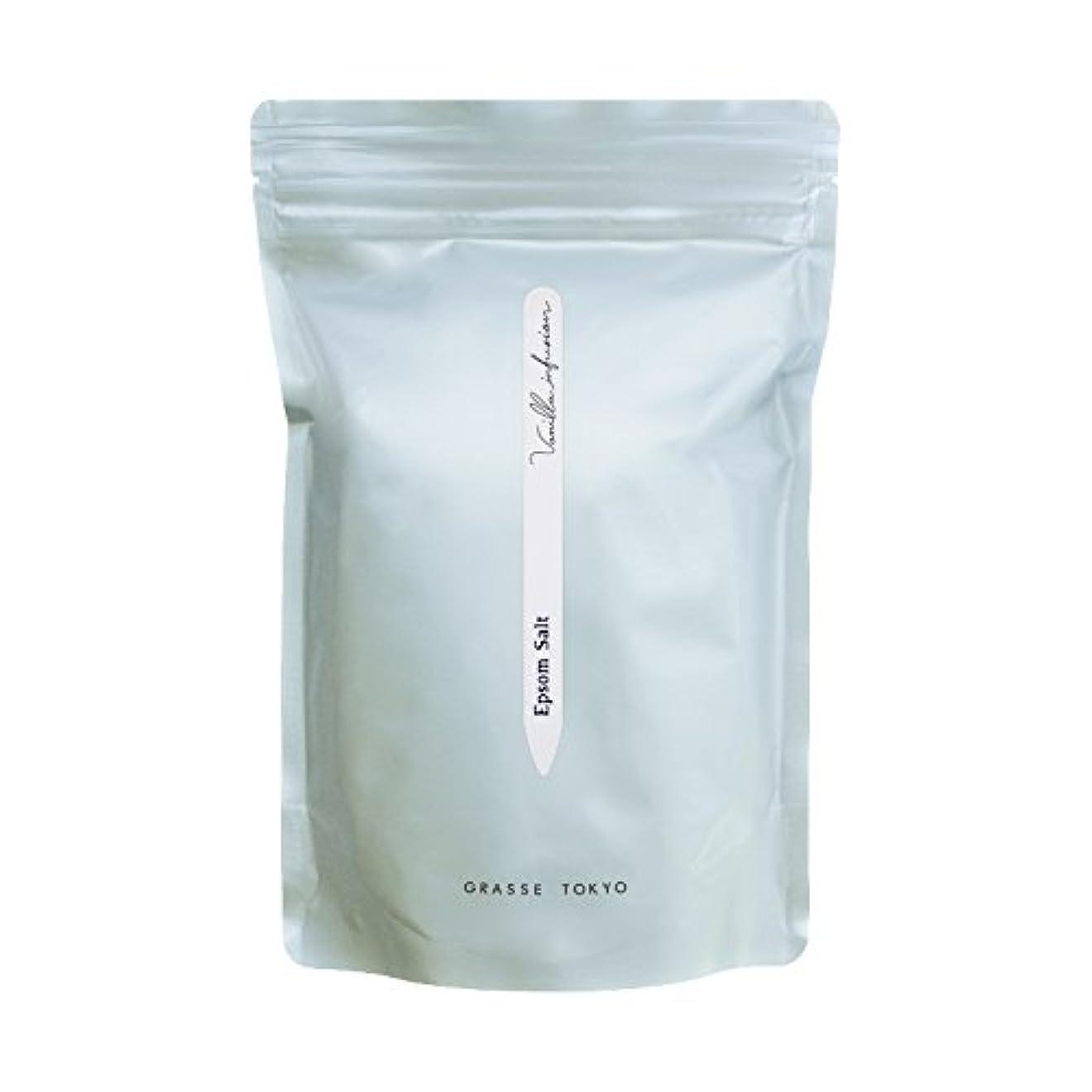 黒弁護人花に水をやるグラーストウキョウ エプソムソルト(浴用、5回分ジップ袋) Vanilla infusion 750g