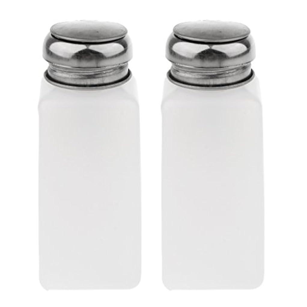 ファセット常習的デュアルPerfk 2個 空ポンプ ボトル ネイルクリーナーボトル ポンプディスペンサー ジェルクリーナー 3サイズ選べ  - 250ミリリットル