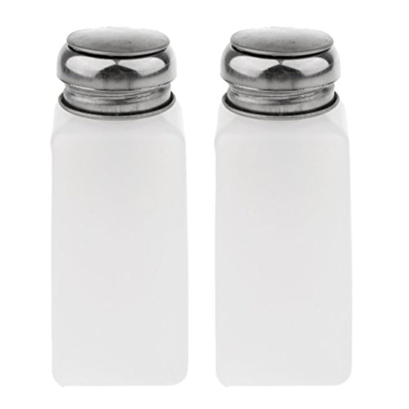 不実ページロータリーPerfk 2個 空ポンプ ボトル ネイルクリーナーボトル ポンプディスペンサー ジェルクリーナー 3サイズ選べ  - 250ミリリットル