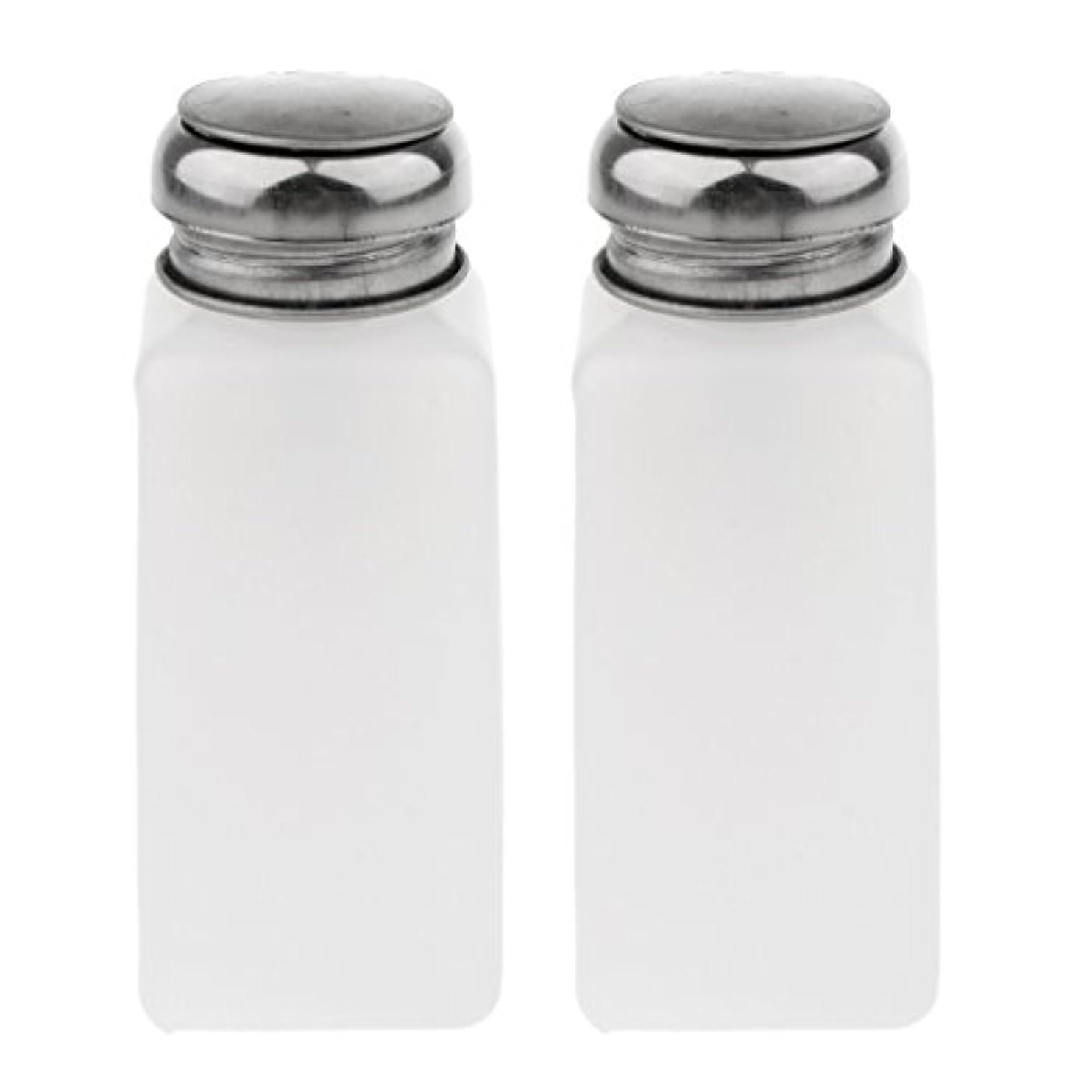正気画像兄2個 空ポンプ ボトル ネイルクリーナーボトル ポンプディスペンサー ジェルクリーナー - 250ミリリットル