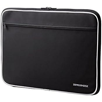エレコム パソコンケース 15.6インチ (macbook pro 15) 衝撃吸収 ZEROSHOCK 収納ポケット付 ブラック ZSB-IBN15BK