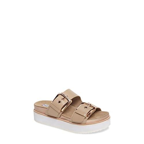 スティーブ マデン シューズ サンダル Steve Madden Pate Platform Sandal (Women Natural Le [並行輸入品]