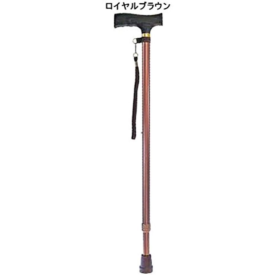 眉をひそめる不透明なカヌー杖 つえ ステッキ 伸縮 コンパクト 歩行 補助 高齢者 シルバー 敬老の日 夢ライフステッキ 伸縮型ベーシックタイプ /ロイヤルブラウン