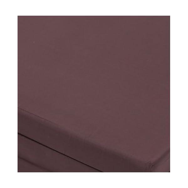 マットレス 三つ折り 厚さ6cm ブラウン シ...の紹介画像8