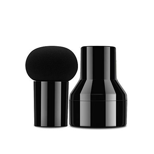CatMoz 多機能メイク用マッシュルーム型スポンジパフ ケース付き ブラック