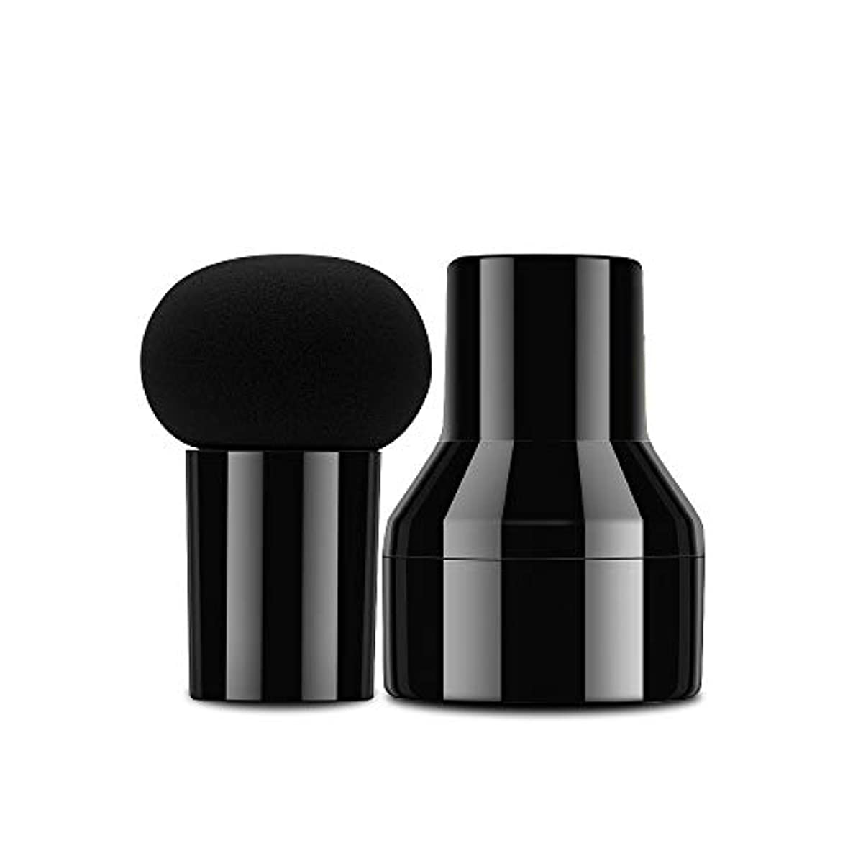趣味またねペンフレンドCatMoz 多機能メイク用マッシュルーム型スポンジパフ ケース付き ブラック