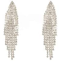 Colette Hayman - Diamante Chain Tassel Earrings