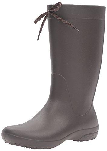 [クロックス] クロックス フリーセイル レイン ブーツ ウィメン  203541 Espresso W9(25.0cm)