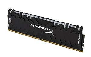 キングストン HX430C15PB3AK4/32 8GBx4 DDR4 3000MHz Non-ECC CL15 HyperX Predator RGB OC UDIMM PC4-24000