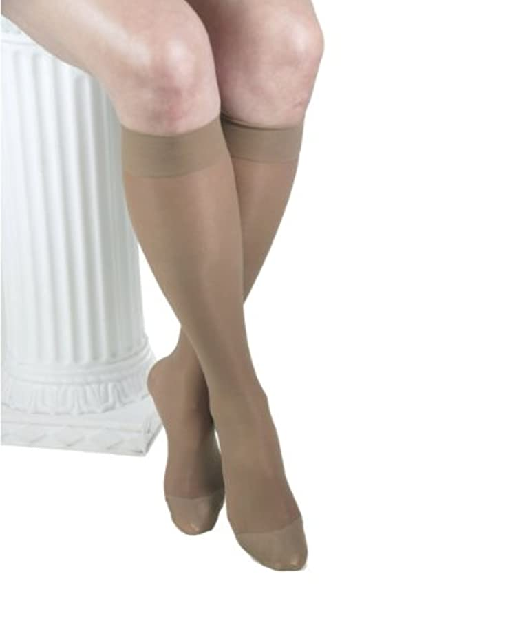 マーチャンダイジングハーフ列車ITA-MED Sheer Knee Highs, Compression (23-30 mmHg) Beige, Large by ITA-MED