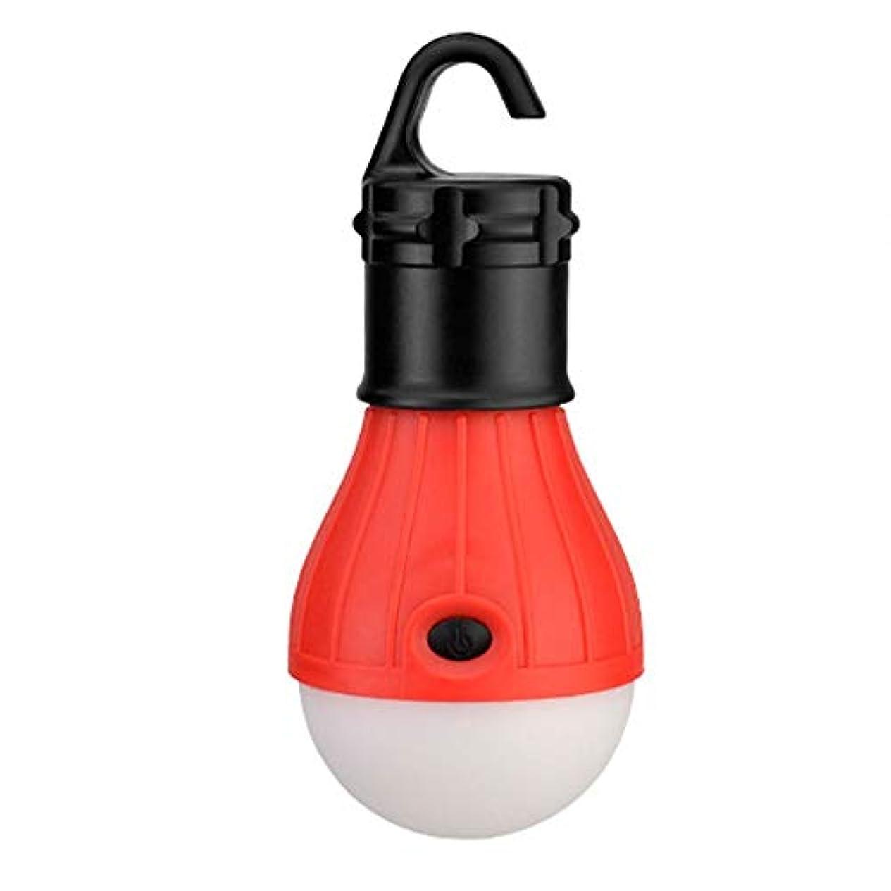 スローデータベース買い手ZR 多機能テントライト、ミニポータブルライトLED電球非常灯防水フック懐中電灯キャンプライト4色使用3スピードスイッチ (色 : 赤)