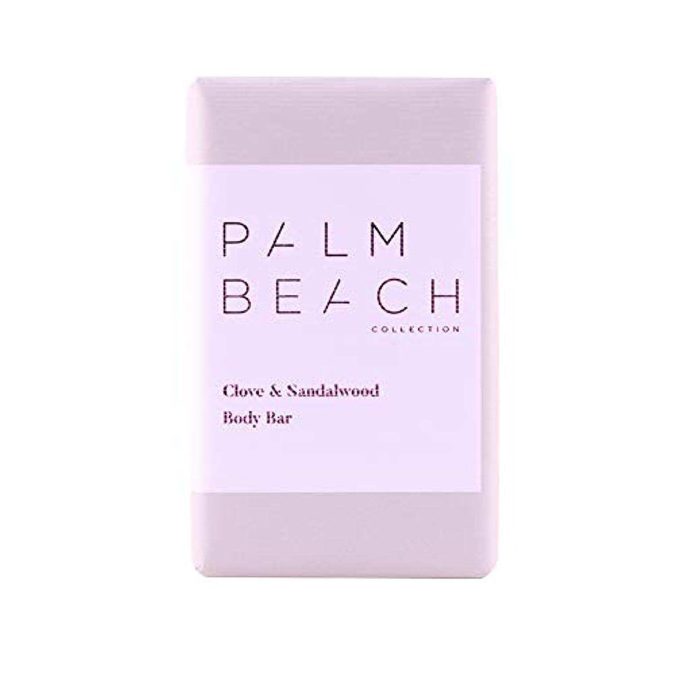 平和なぜなら長方形パームビーチコレクション ボディ バー クローブ&サンダルウッド 200g