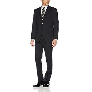 [ハルヤマ イージーセレクトスーツ] 選べる96サイズ メンズスーツ 【18-002_ネイビー 無地】 18-002 ABM(AB5)(身長165cm~170cm) ウエスト:84cm 股下:76cm(日本サイズM相当)