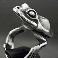 フロッグリング サイズ23号 スターリングシルバー製 LOVECRAFT(ラブクラフト) 蛙 カエル 御守り メンズ 日本製