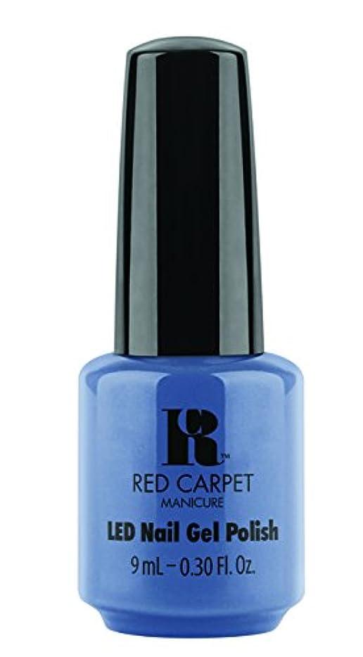 オフセット隔離するメイドRed Carpet Manicure - LED Nail Gel Polish - Love Those Baby Blues - 0.3oz/9ml