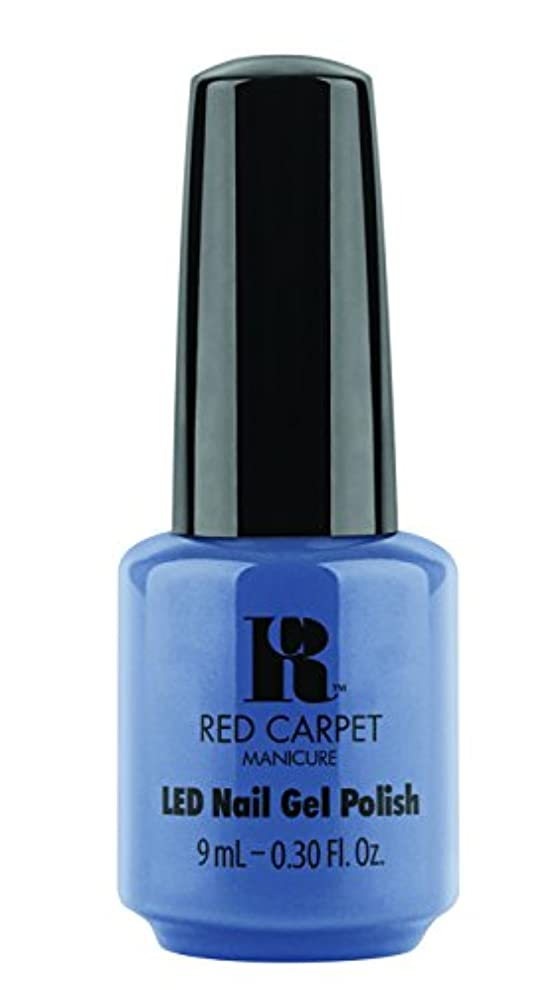 作曲する亜熱帯通り抜けるRed Carpet Manicure - LED Nail Gel Polish - Love Those Baby Blues - 0.3oz/9ml