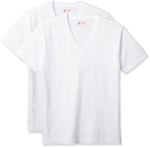 (ヘインズ) Hanes Tシャツ ジャパンフィット Vネック 2枚組 (最新モデル)