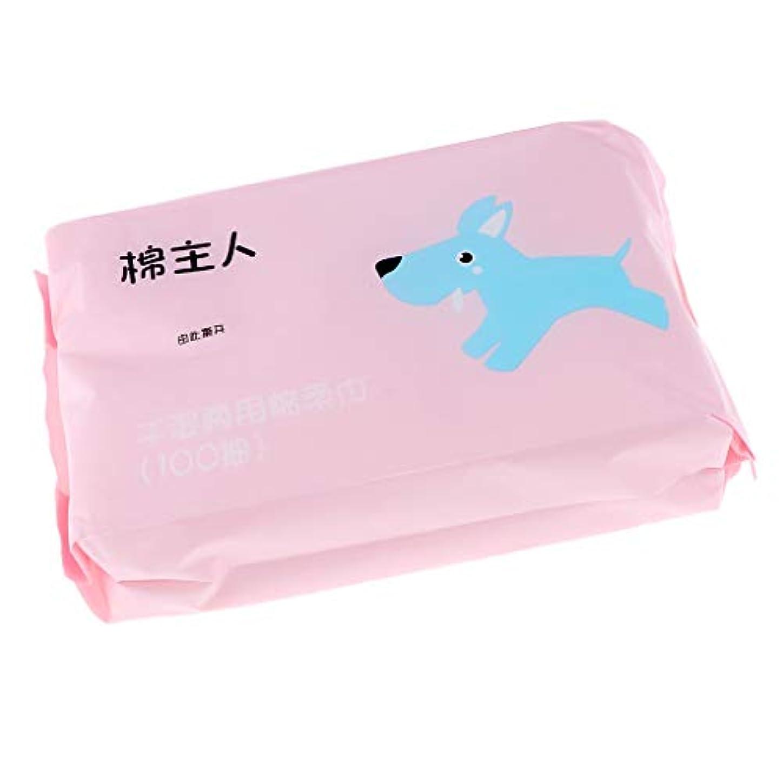 妨げる人気スペシャリストT TOOYFUL 約100枚 使い捨 クレンジングシート クリーニング フェイス タオル ソフト 敏感肌適用 全2色 - ピンク