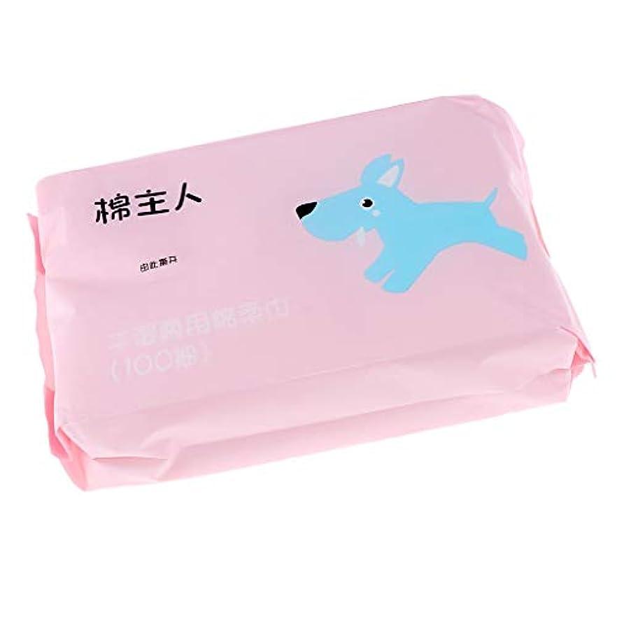 揃える登るハウス約100枚 使い捨 クレンジングシート クリーニング フェイス タオル ソフト 敏感肌適用 全2色 - ピンク