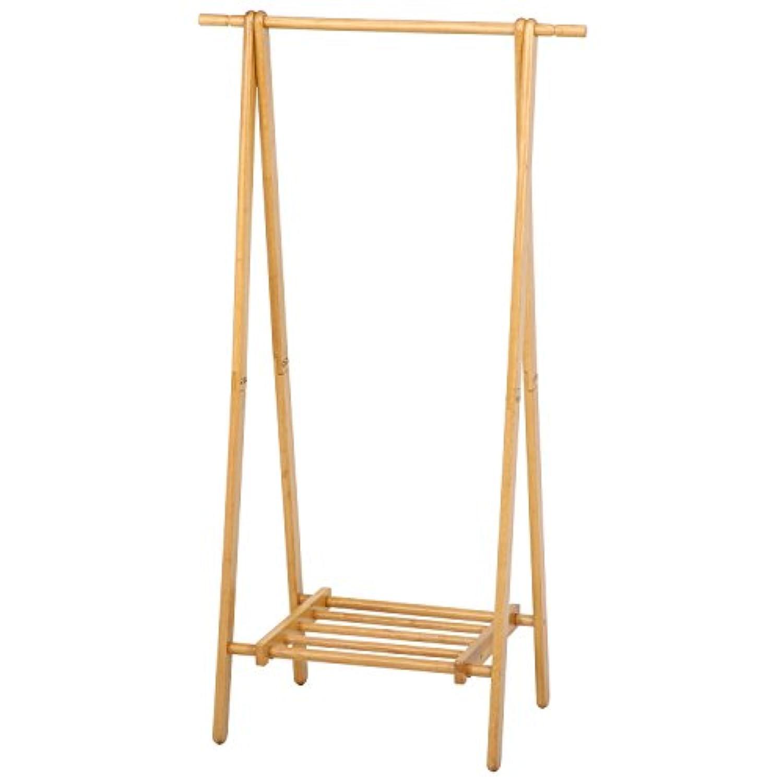不二貿易 木製ハンガー ジョイント 幅80cm ナチュラル 12967