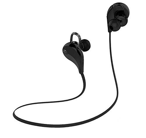 〔6色展開〕SoundPEATS サウンドピーツ Bluetooth イヤホン 高音質 AAC(iPhone,iPad,iPod)コーデック対応 低遅延 CSR社チップ採用 IPX4防水 IP4X防塵 スポーツイヤホン マイク付き ハンズフリー通話 CVC6.0ノイズキャンセリング 音漏れ防止機能 ブルートゥース イヤホン ワイヤレス イヤホン Bluetooth ヘッドホン[メーカー直販 / 1年間保証]QY7 ブラック