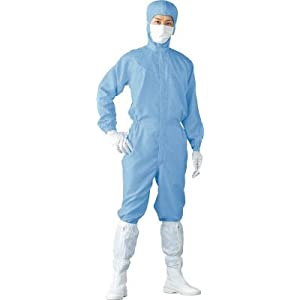 Linet クリーンスーツ LL ブルー FH199C02LL