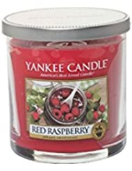 Yankee Candles Small Pillar Candle - Red Raspberry (Pack of 2) - ヤンキーキャンドルの小さな柱キャンドル - レッドラズベリー (x2) [並行輸入品]