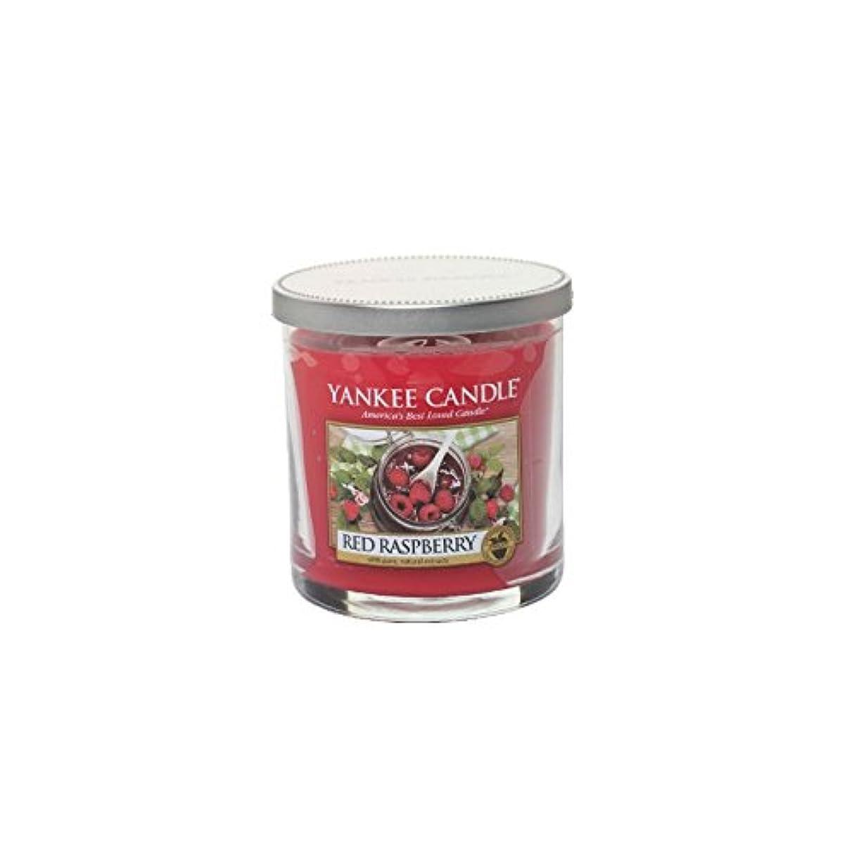 チャレンジストライプみなさんYankee Candles Small Pillar Candle - Red Raspberry (Pack of 2) - ヤンキーキャンドルの小さな柱キャンドル - レッドラズベリー (x2) [並行輸入品]