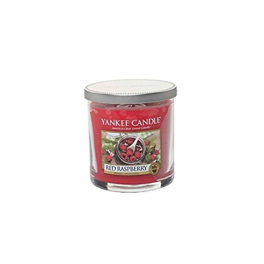 熟読オリエント敷居Yankee Candles Small Pillar Candle - Red Raspberry (Pack of 6) - ヤンキーキャンドルの小さな柱キャンドル - レッドラズベリー (x6) [並行輸入品]