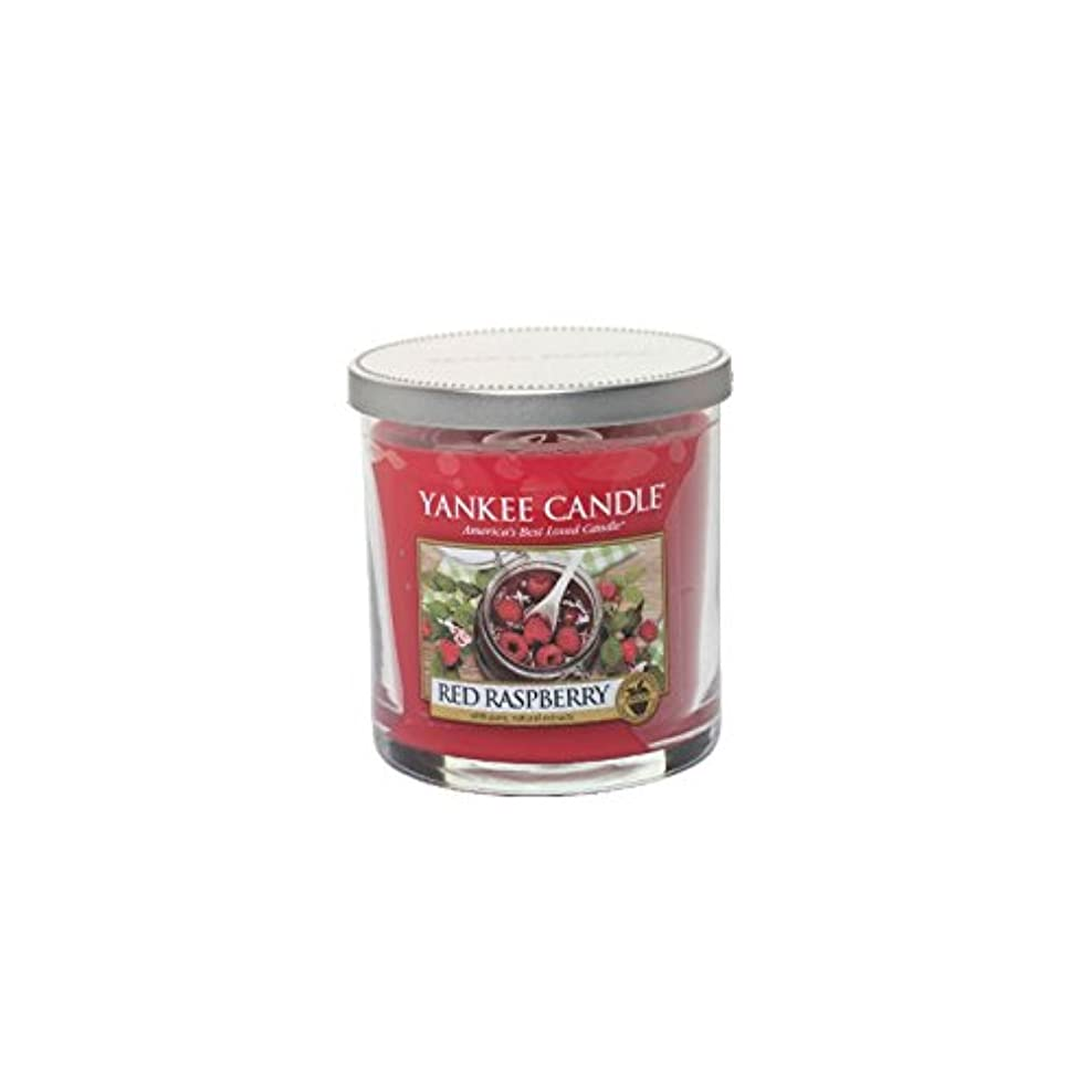 銛出身地定期的Yankee Candles Small Pillar Candle - Red Raspberry (Pack of 6) - ヤンキーキャンドルの小さな柱キャンドル - レッドラズベリー (x6) [並行輸入品]