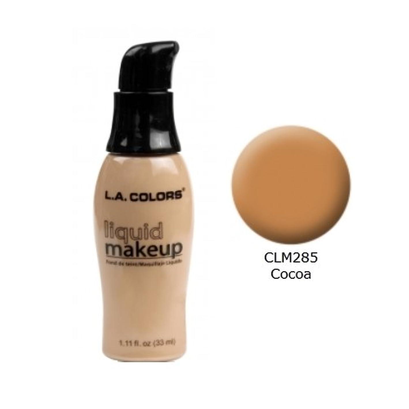 顕現換気するケージ(3 Pack) LA COLORS Liquid Makeup - Cocoa (並行輸入品)