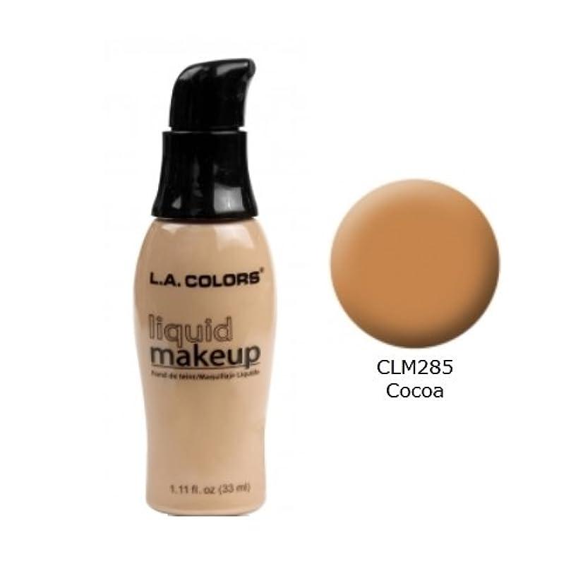電球翻訳するキャンプ(6 Pack) LA COLORS Liquid Makeup - Cocoa (並行輸入品)