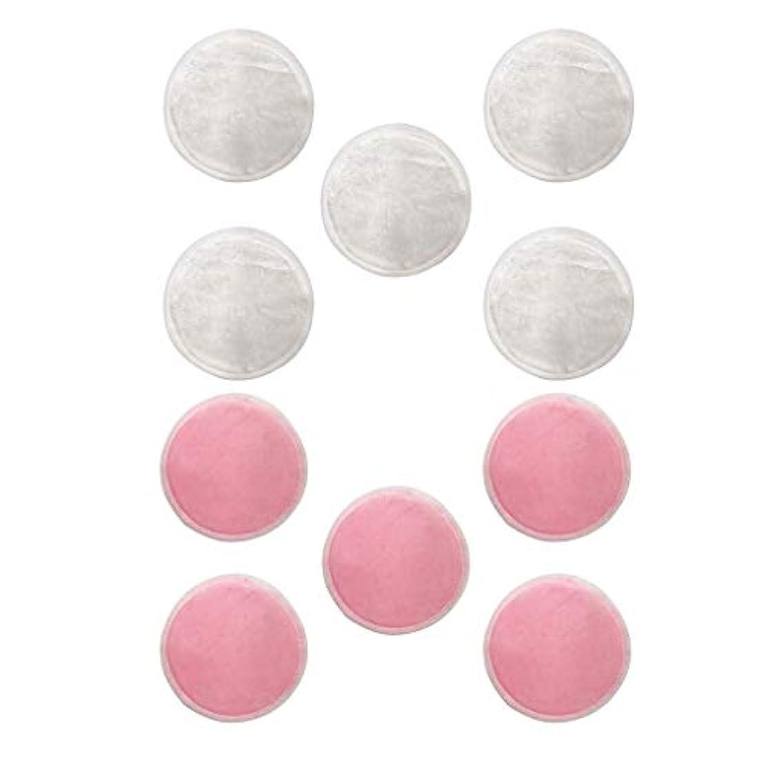 ゼリー人工伝えるdailymall Natural Rounds 10 Packs-顔用の再利用可能な竹繊維メイク落としパッド-再利用可能なフェイシャルコットンラウンド