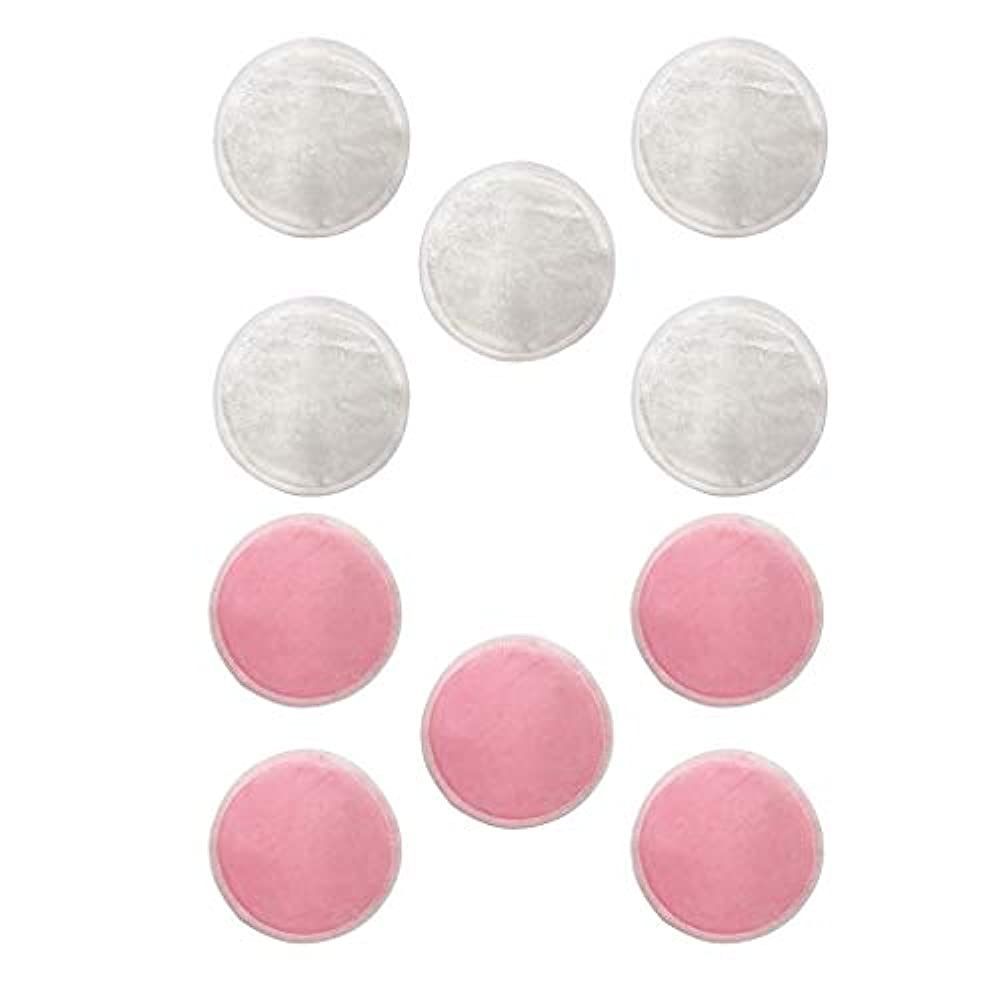 換気ミントディベートdailymall Natural Rounds 10 Packs-顔用の再利用可能な竹繊維メイク落としパッド-再利用可能なフェイシャルコットンラウンド