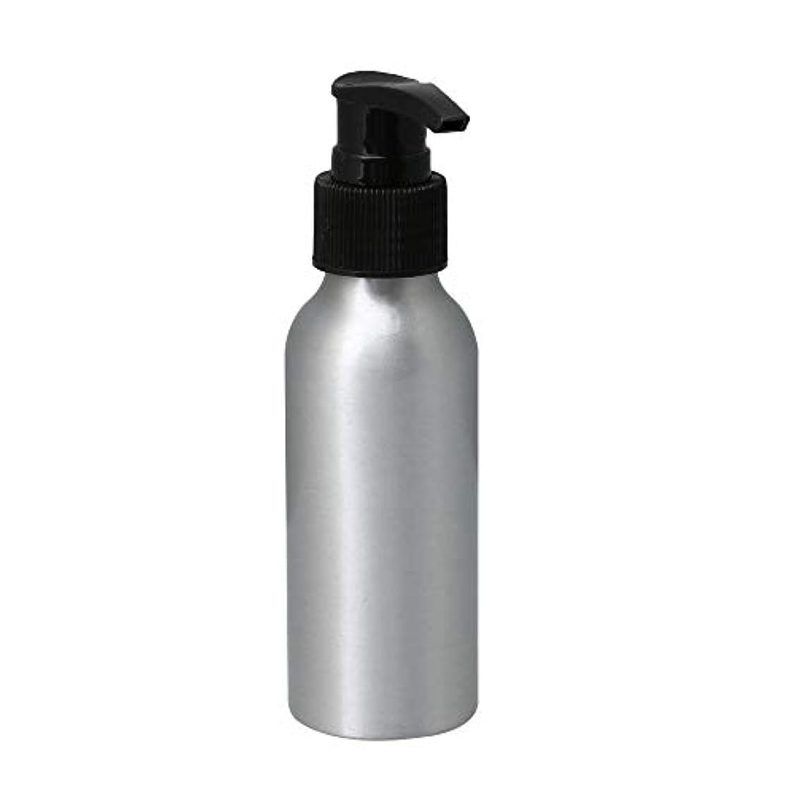 チャンス性的風味ポンプボトル 100ml コスメ用詰替え容器 詰め替え用ボトル アルミボトル 繰り返し使用 噴霧器 アルミボトル 黒ポンプヘッド