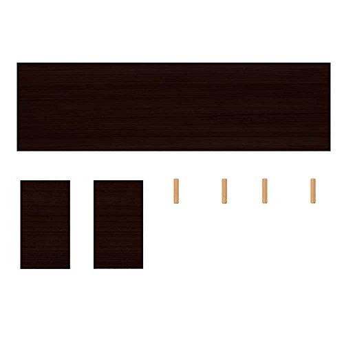 (Bidear)机上台 木製 ディスプレイスタンド [一段, 黒] 耐荷重約30kg サイズ50*20*10cm