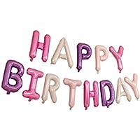 Lumierechat 誕生日 バルーン ガーランド 風船 HAPPY BIRTHDAY パーティー デコレーション a-5256 (ゴールド)