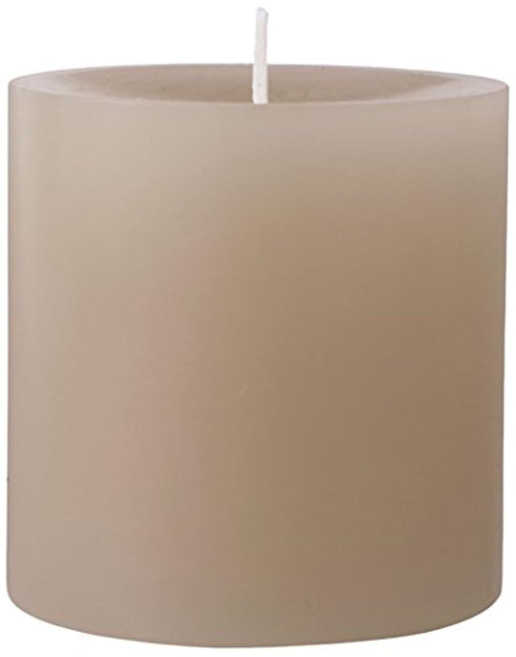 チーズリレー製油所75×75ピラーキャンドル 「 サンドベージュ 」 A5000000SB