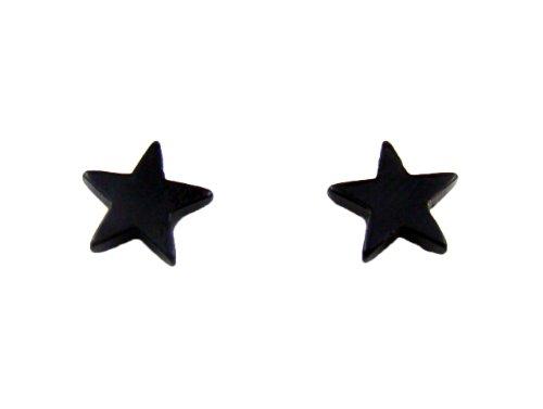 [해외]waiwai 자석 귀걸이 (자석) 논호루삐아스 1 쌍 (스타) 검정 YS-15723/waiwai Magnetic Piercing (Magnet) Non Hole Pierced 1 Pair (Star) Black YS - 15723