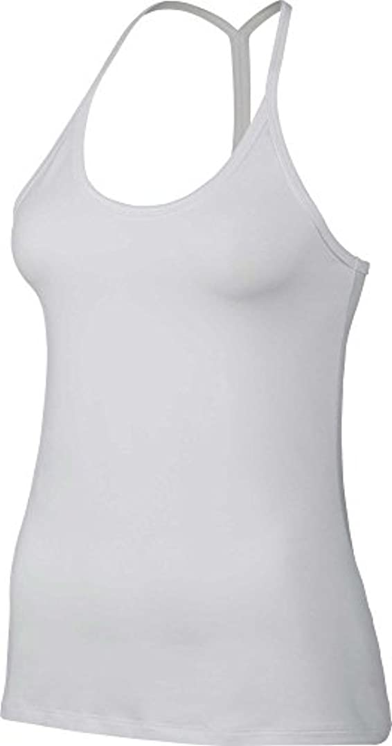 配分ウサギ食べるナイキ トップス シャツ Nike Women's Dry Slim Strappy Tank Top White [並行輸入品]