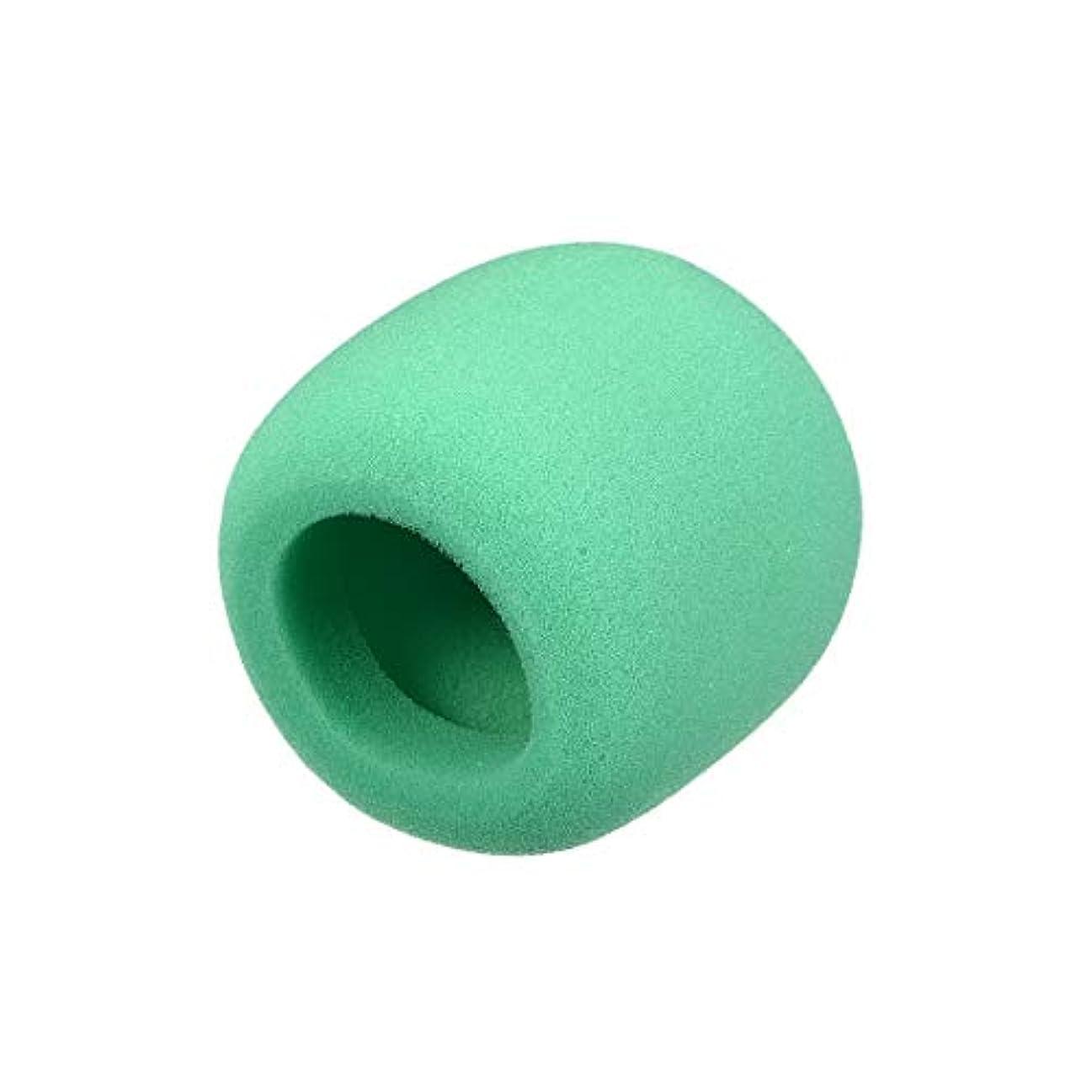 びっくりした液体相互接続uxcell フォームマイクカバー 厚スポンジ 外径60mm ハンドヘルドマイクウインドスクリーン グリーン KTV 1個入り