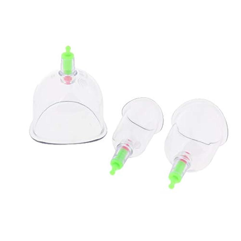 スキャンダラスアート過剰真空カッピングセット 透明なボディマッサージカップ 吸い玉 プラスチック 健康ケア 男女兼用 3個入