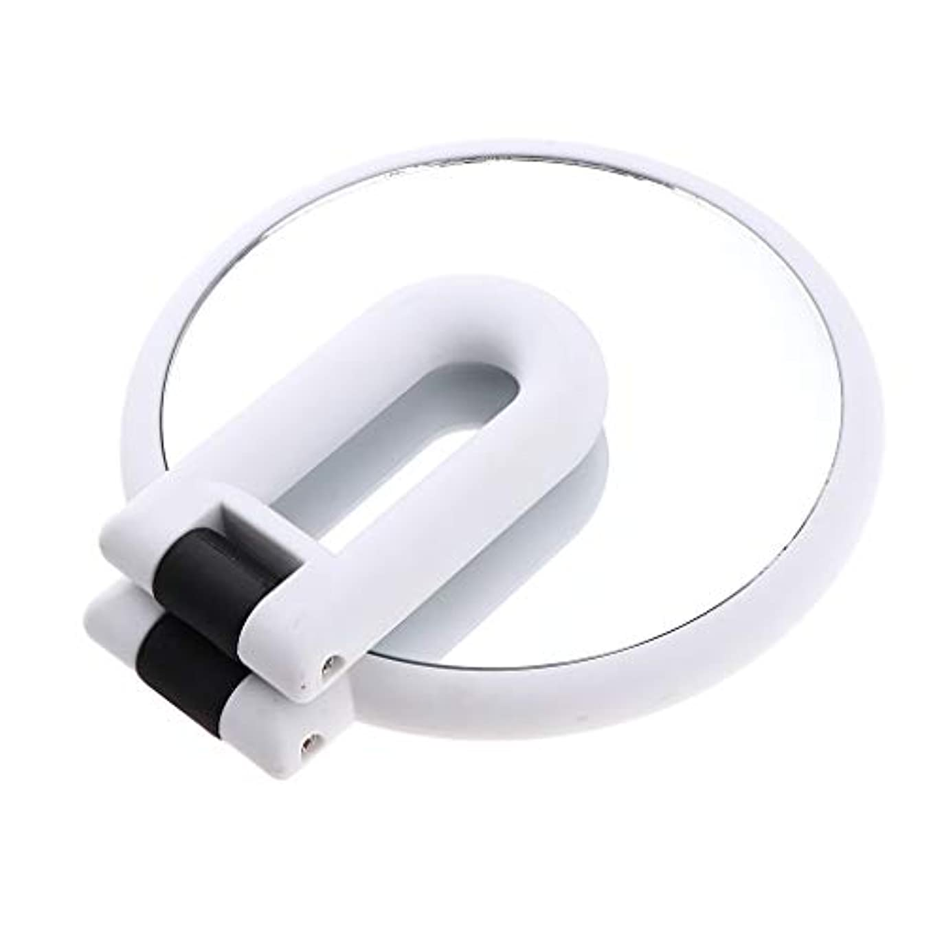 分析的削る溶接化粧鏡 ラウンド ハンドヘルド 両面化粧鏡 拡大鏡 5仕様選べ - 15倍