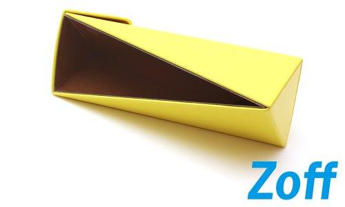 Zoff(ゾフ) 三角窓がポイントのメガネケース(Z-Sankaku_YL)