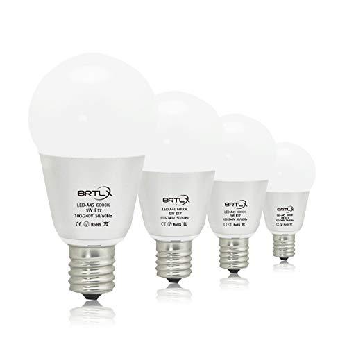 LED電球 E17口金 45W形相当 小型電球5W 6000K昼光色相当 450lm 広配光タイプ 省エネ90% 4個パック